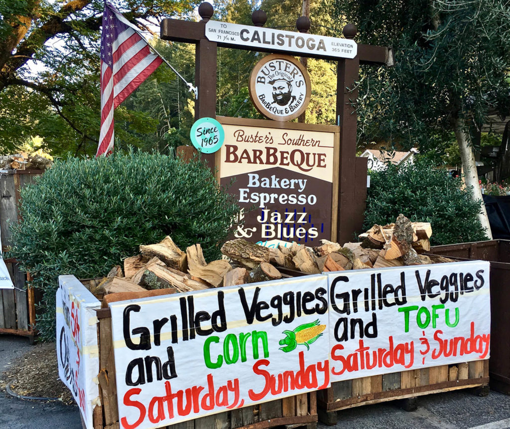 "Buster's serves up southern-style barbecue and weekend jazz, ""Calistoga Restaurants Cheat Sheet."""