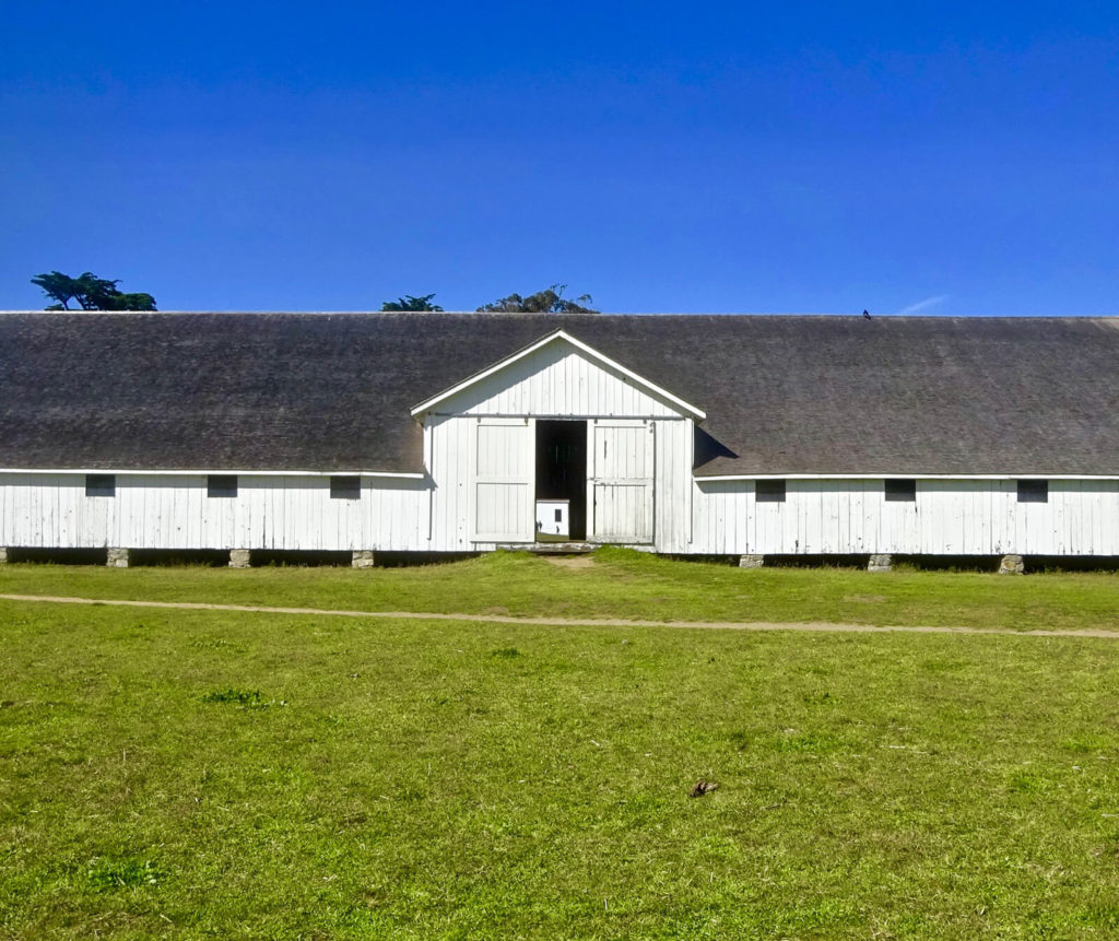 "Dairy barn, ""Great Marin County Hikes – Tule Elk Preserve."""