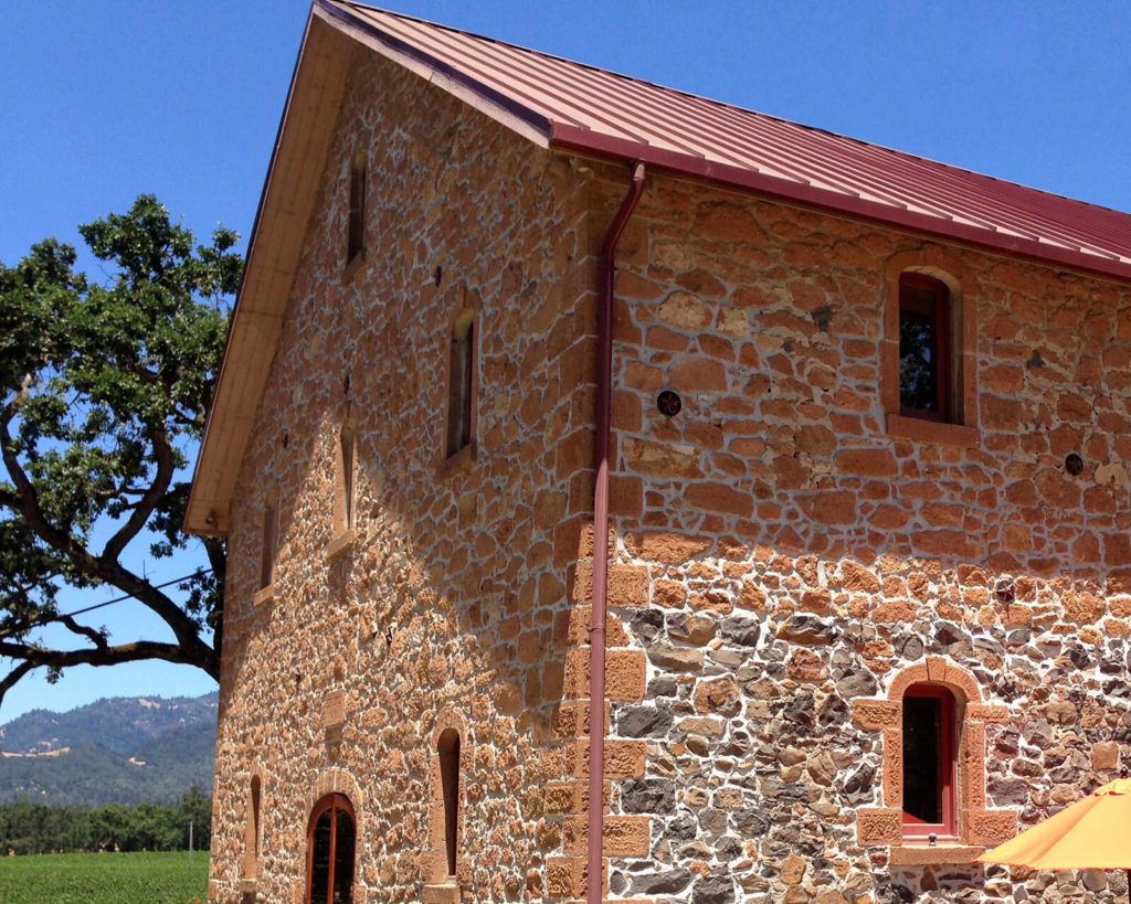 "The stone barn at Ehlers Estate dates to 1886, ""3 St. Helena Wineries with a Personal Touch."""