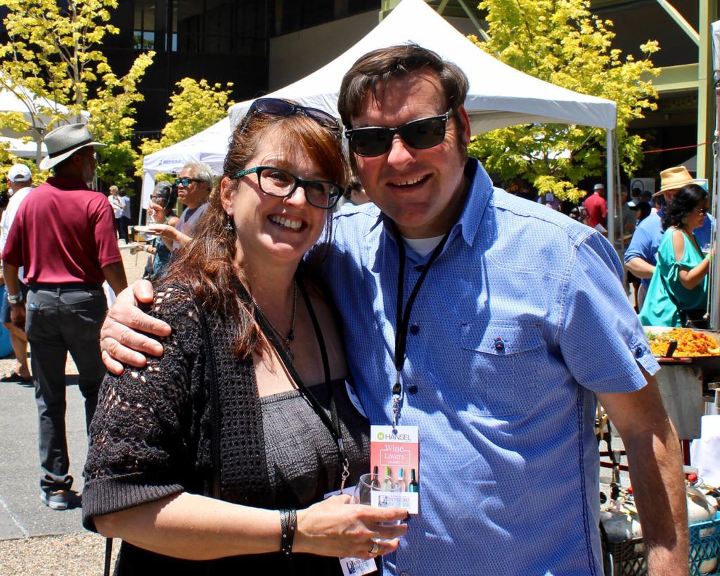 "North Coast Wine Challenge judges Ziggy Eschliman, left, and Chris Sawyer, ""Meet the Principals at Wine and Food Fest."""