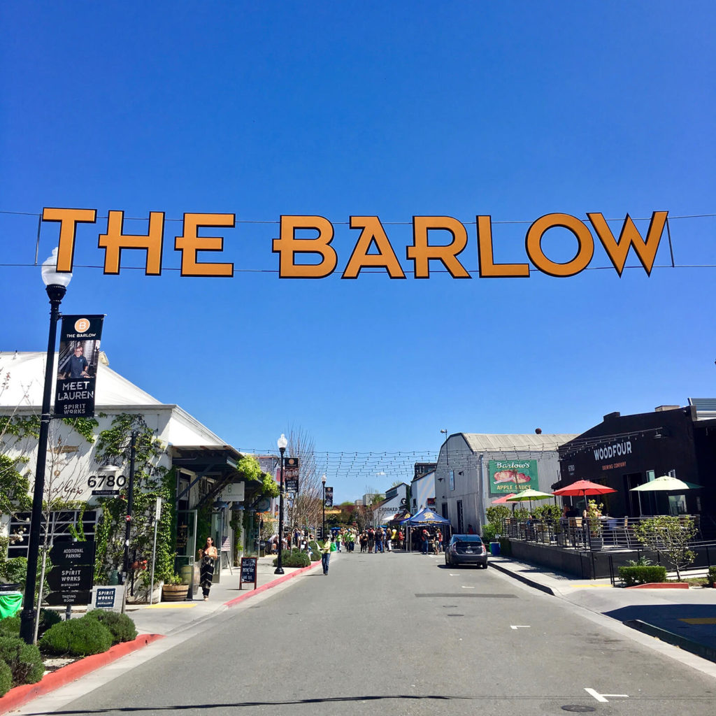 "Taste beer, wine, and spirits at The Barlow, also home to shops and artist studios, ""Sonoma County Basics."""